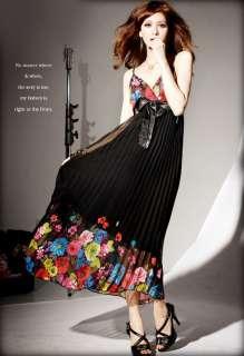 New sexy womens Floral long dress boho dress maxi dress chiffon dress