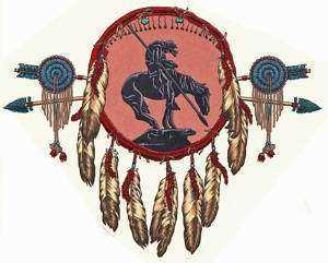 Ceramic Decals Native American Indian Shield Design