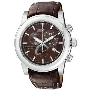 Citizen Citizen Mens Eco Drive Chronograph   Brown Leather & Dial
