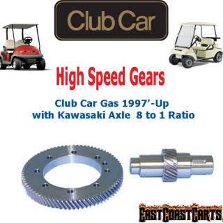 Car Gas 1997 Up Golf Cart w/Kawasaki Axle High Speed Gears 81 Ratio