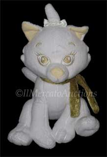 Plush Aristocat MARIE Winter White gold Kitty Cat Stuffed Animal