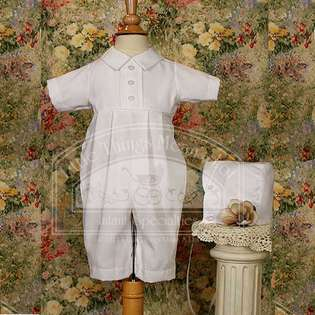 Little Things Mean A Lot Baby Boys Cute White Button Front Baptism