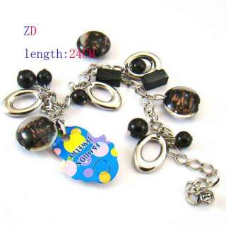 A0304 Fashion Black Murano Glass Crystal Beads Bracelet