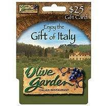 Olive Garden $25 Gift Card   Sams Club