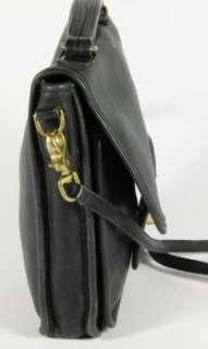 Coach Black Leather Cross Body Messenger Satchel Shoulder Bag Handbag