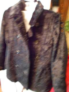 Black Weatherproof Garment Co.Faux Fur Jacket Coat Seal? Linned