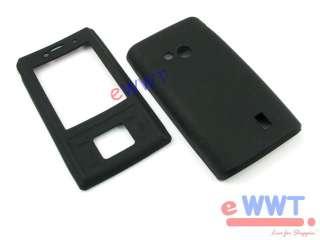 for Sony Ericsson J20 Hazel Black Silicon Silicone Skin Cover Soft