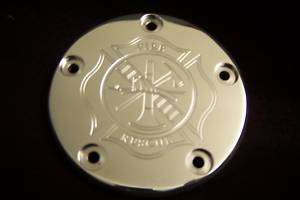 Custom Harley Davidson points cover Fire Fighter 5 hole