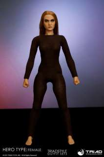 TRIAD HERO TYPE FEMALE DARK BROWN SPANDEX BODY SUIT 1/6