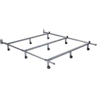 InSassy The Edge Metal Bed Frame on Wheels   Twin at