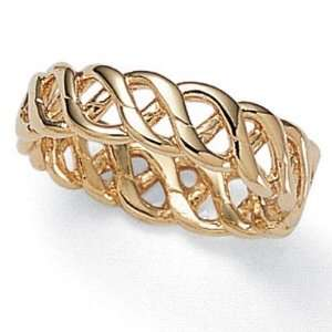PalmBeach Jewelry 14k Gold Plated Braided Band Ring Jewelry
