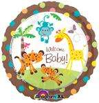 BABY SHOWER BALLOONS JUNGLE SAFARI DECORATIONS Welcome Baby Monkey