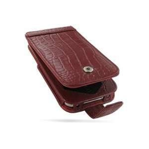 PDair Red Crocodile Pattern Leather Case for Apple iPhone