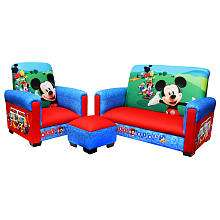 Harmony Kids Disney Mickey Mouse Club House 3 Piece Toddler Sofa Set