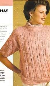 LADIES LACY TOP knit knitting patterns CARDIGAN WOMEN