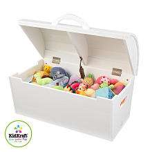 KidKraft Round Top Storage Chest   White   KidKraft   BabiesRUs