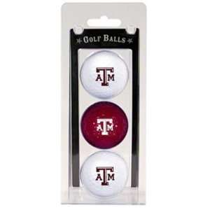 New Texas A&M Aggies (TAMU) 3pk Pack Golf Balls New: Sports & Outdoors