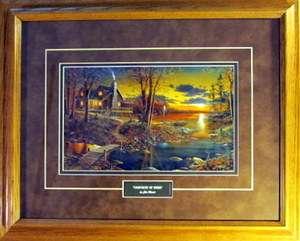 Jim Hansel Comforts of Home Lake Cabin Print Framed