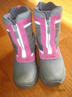 Lands End Pink/Gray Winter Boots Size 13