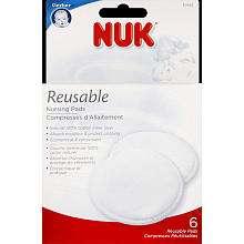 NUK Nursing Pads Reusable   6 Pack   Nuk   Babies R Us