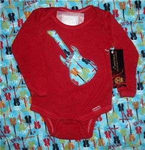 New Punk Guitar Skull kids baby toddler shirt clothes