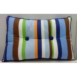 Welt Corded Lumbar Pillow Stripe with Button Everything