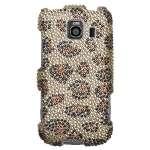 Leopard Skin Rhinestone Bling Hard Case Cover LG Optimus S U V LS670