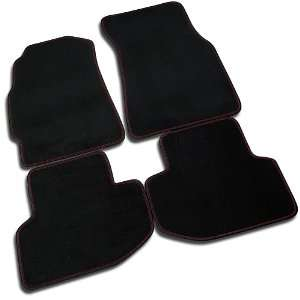 ACURA INTEGRA 2 DR GS RS LS BLACK FLOOR MAT MATS W/ RED