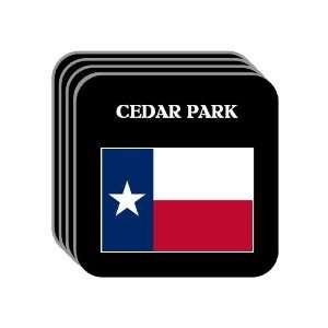 US State Flag   CEDAR PARK, Texas (TX) Set of 4 Mini Mousepad Coasters