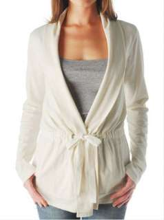NWT   Lucky Brand Coniya Wrap Sweatshirt Cream & Teal