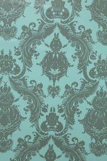 Damsel Wallpaper   Aqua Grey   Urban Outfitters