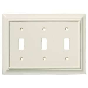 BRAINERD 126448 Wood Architectural Triple Switch Wall Plate, Light