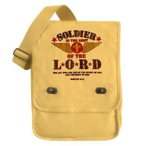 Messenger Field Bag Yellow Soldier in the Army of the Lord