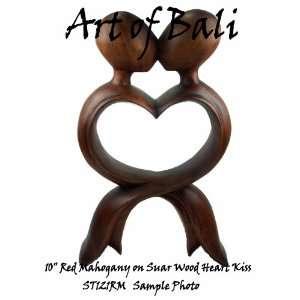 Art of Bali Zen Garden Carved 10 Hand Carved Heart Kiss