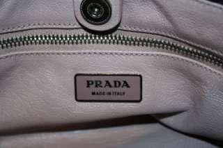PRADA Black DISTRESSED Pleated LEATHER SMALL HOBO Shoulder BAG Croc