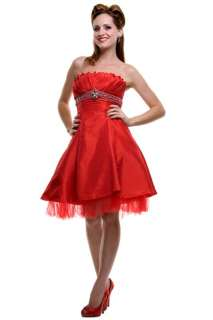 Strapless Bridesmaid Party Junior Prom Dress #5596