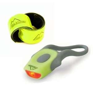 Mini Fluke Red LED Bike Light and Reflective Snap Bands