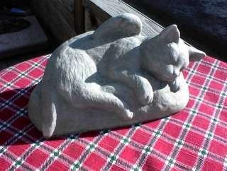 New PET CAT ANGEL & WINGS Memorial Statue Stone Grave