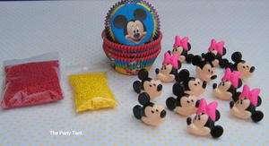 MICKEY MOUSE CUPCAKE DECORATING KIT (24) Disney Rings