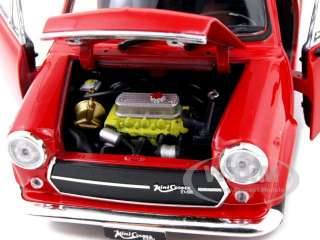 diecast model of Old Mini Cooper 1300 Red diecast car model by Welly
