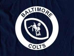 Baltimore Colts Logo Tee Shirt   Ravens
