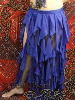 Ballroom Belly Dance Tango Costume Dress Skirt LARGE XL