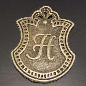 Antique bronze pendants letter H charms 18pcs 03556