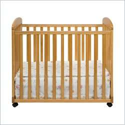 Alpha Mini Rocking Mobile Wood Baby Honey Oak Crib 048517000434