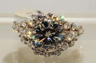 11000 2.75CT ROUND CUT MOISSANITE ENGAGEMENT RING SIZE 5