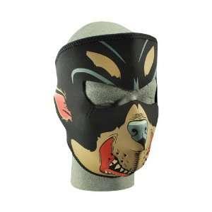 Zan Headgear Rottweiler Mens Full Face Mask Sports Bike