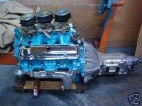 PONTIAC 389 TRI POWER ENGINE AND MUNCIE TRANSMISSION