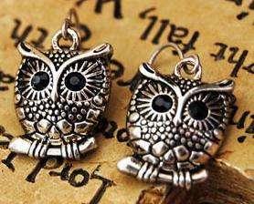 Fashion Silver Color Child Owl Korean Fashion Earrings