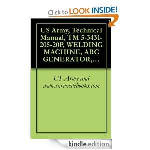 US Army, Technical Manual, TM 5 3431 205 20P, WELDING MACHINE, ARC