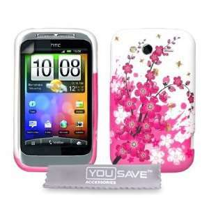 Pink White Bee Floral Silicone Gel Case Cover Skin + Electronics